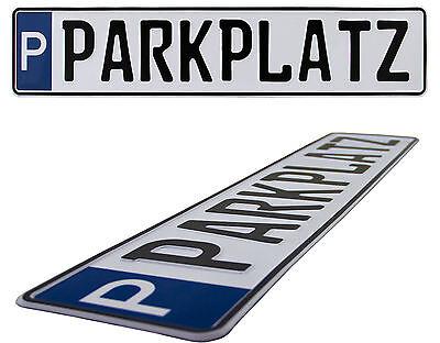 Parkplatzschild520 x 110 mm,Wunschkennzeichen, Wunschtext, Namen, Hausnr. …