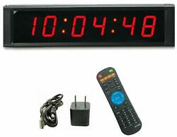 "1""High 6 Digit LED Wall Clock, Countdown/up Digital Timer, Stopwatch"