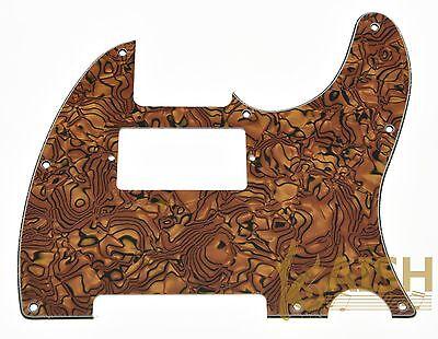 Tele/Telecaster Style Humbucker Pickguard Scratch Plate Tiger Pattern 3 Ply