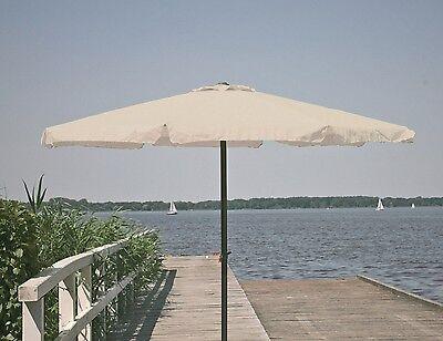 Profiline Sonnenschirm 3 m Kurbelschirm Gartenschirm knickbar Alu 300 cm natur