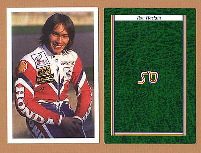 1986 Motorcycle Racing Team Honda Ron Haslam Bbc A Question Of Sport Game Card