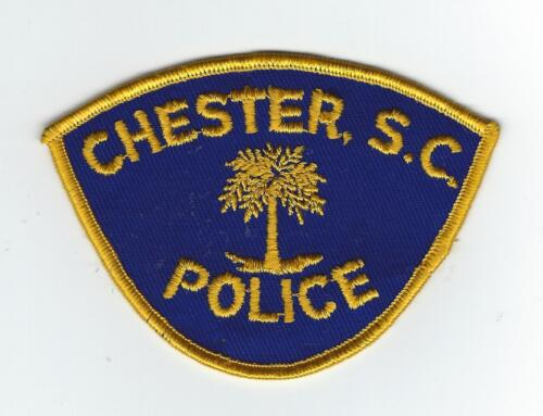 VINTAGE CHESTER, SOUTH CAROLINA POLICE (CHEESE CLOTH BACK)   patch