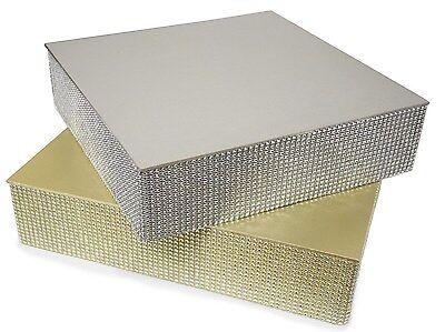 Square/Round Wedding Cake Stand Silver/ Gold Rhinestone , Bling Cake Plateau