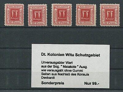 DT. KOLONIEN MALAKOTE 32 PESA unverausgabter Wert (*) 5 Stück GÜNSTIG!! m337