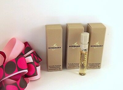 NEW 3 X Burberry My Burberry Eau de Parfum Women Perfume Sample Spray 2 ml