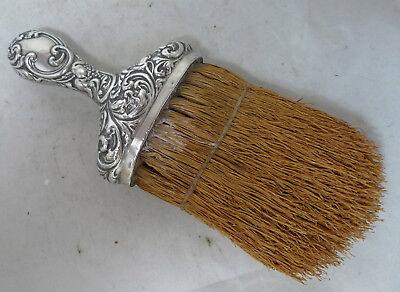 Large Edwardian Silver Crumb Brush Birmingham 1905 A602017
