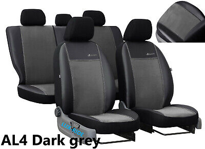 VAUXHALL ASTRA SXI LEATHER LOOK FULL SEAT COVER SET BLACK 98-05