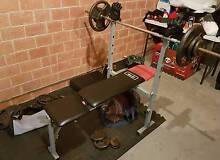 Gym Bench Bar and weights Engadine Sutherland Area Preview