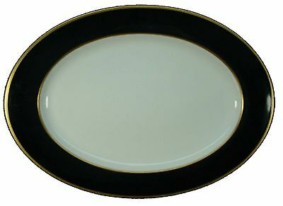 Mikasa Onyx (MIKASA china ONYX A6700 pattern Cathy Hardwick Oval Serving Platter @ 15