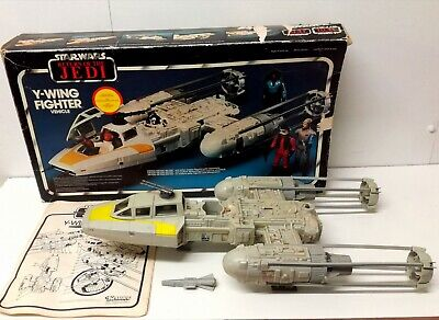 Vintage Star Wars Y Wing 100% Original Complete With Box Working Electrics ROTJ