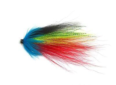 Flashy Blue Salmon Tube Flies Size 0.5 and 1 inch Fishing Flies