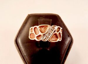 Vintage Men's 10K Ring with 4 Diamonds