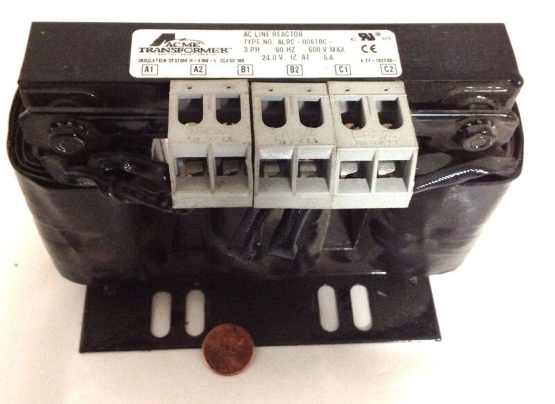 ACME TRANSFORMER * 3 PHASE 600V AC LINE REACTOR * ALRC-00618C