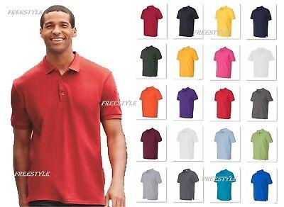 Gildan Premium 100% Cotton Double Pique Sport Polo Tee Men's T-Shirt 82800 G820 Cotton Pique Sport Shirt