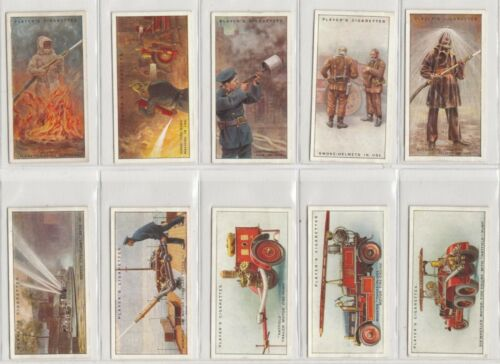 Complete Set of 50 Vintage FIREFIGHTING Cards from 1930