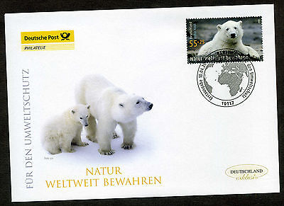 BRD 2008 FDC Mi-Nr. 2656 Umweltschutz: Eisbär Knut, Berliner Zoo
