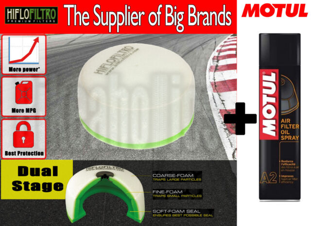 DS Air filter + Motul filter oil spray- Kawasaki KLX 250 E - 1995