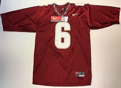 Nike #6 Florida State Seminoles Garnet Replica Football Jersey - Adult