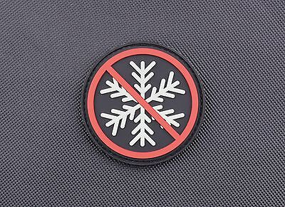 3D PVC No Snowflakes Allowed GITD Morale Patch Glow Generation Snowflake Trigger