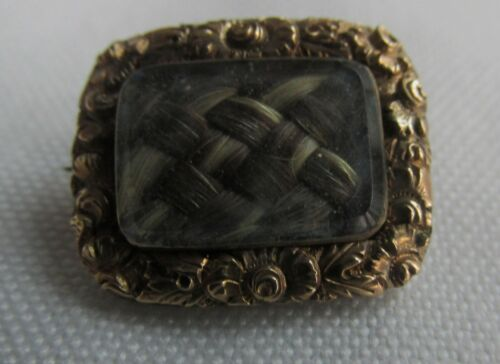TINY CHILDS MOURNING BROOCH / FISCHU PIN  GEORGIAN