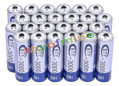 24x AA 3000mAh 1.2 V Ni-MH rechargeable battery BTY cell for MP3 RC Toys Camera on Rummage