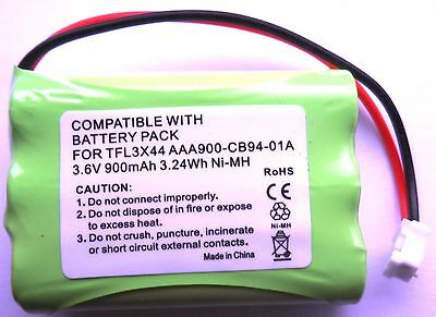 RECHARGEABLE BATTERY 3.6V COMPATIBLE WITH MOTOROLA MBP27T BABY MONITOR