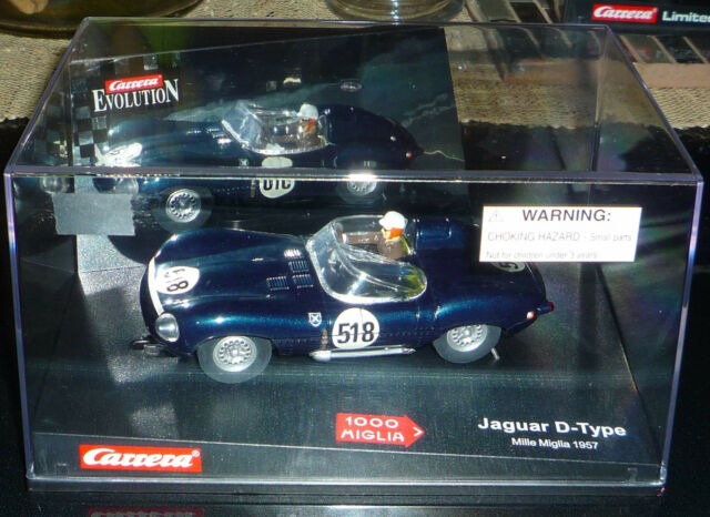 Carrera 1/32 Scale Slot Car Jaguar D Type #518 Mille Miglia 57 #