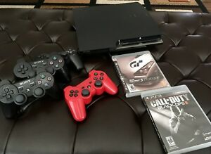 PS3 Slim 4 controllers and games Excellent condition!