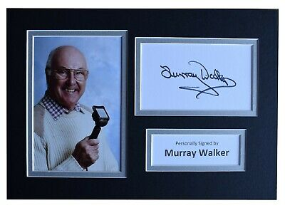 Murray Walker Signed Autograph A4 photo display Formula 1 Motor Sport AFTAL COA