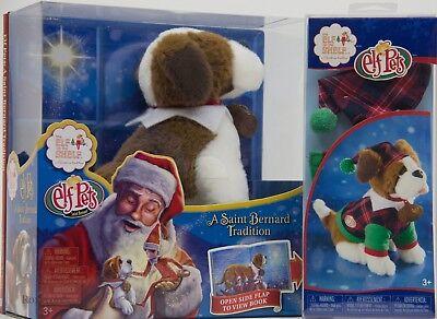 Christmas Tradition Elf on the Shelf Pet St Saint Bernard Dog Book & PJ Set NIB