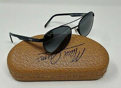 Maui Jim UPCOUNTRY Round AVIATOR Sunglasses POLAR Neutral Grey GLASS 53mm (Maui Jim Upcountry)