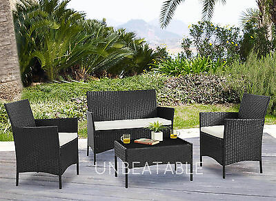 Garden Furniture Set Conservatory Patio Rattan Outdoor Table Chairs Sofa