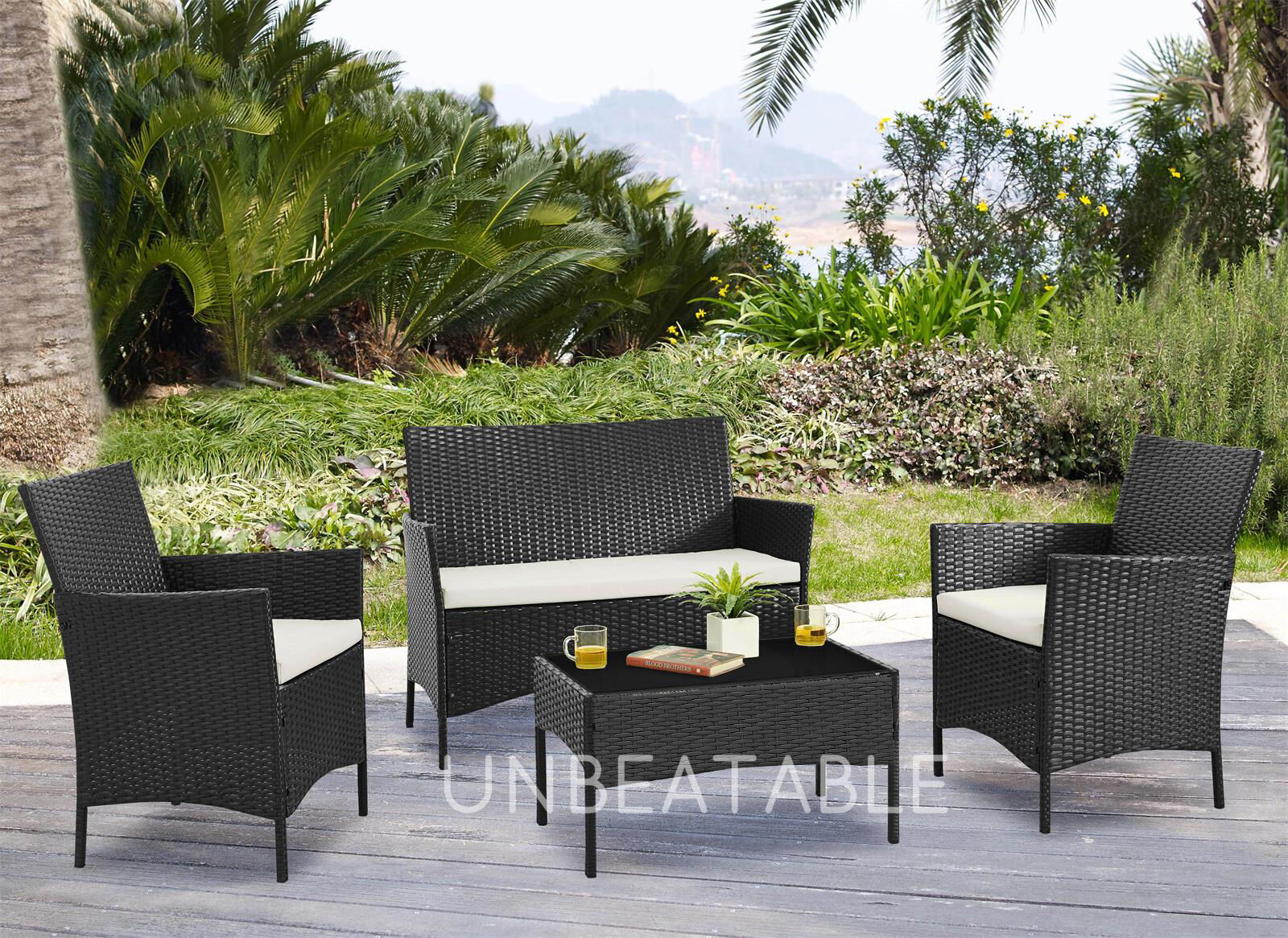 Garden Furniture - Garden Furniture Set Conservatory Patio Outdoor Table Chairs Sofa Cover Option