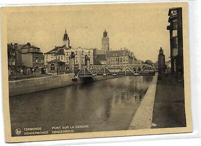 1 Postcard East flanders Dendermonde Pont sur la Dendre - Denderbrug pcbelgf187