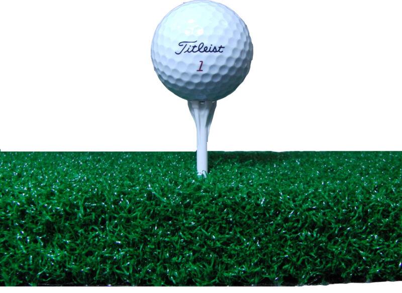 Premium Super Tee Golf Mat  4 feet x 5 feet Tee Line Mat - Holds A Wooden Tee