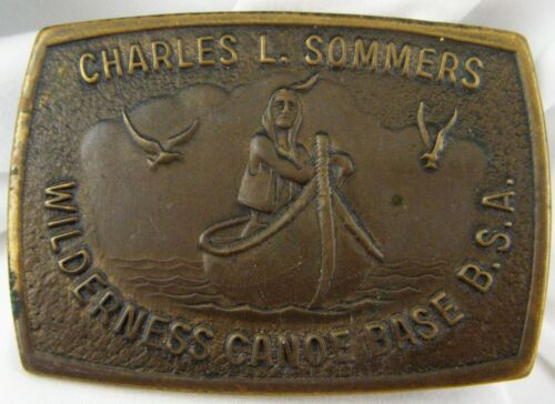 Charles Sommers Wilderness Canoe Base Belt Buckle Boy Scouts of America BSA