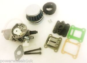 SPARE PARTS FOR MINI MOT DIRT QUAD BIKE, AIR FILTER, CARB, INLET MANIFOLD GASKET