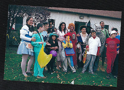 Old  Photograph Group of People Wearing Cool Halloween Costumes 2006
