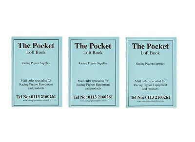 x3 Pocket Loft Books Racing Pigeons