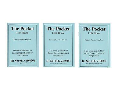 x3 Pocket Loft Books Racing Pigeons