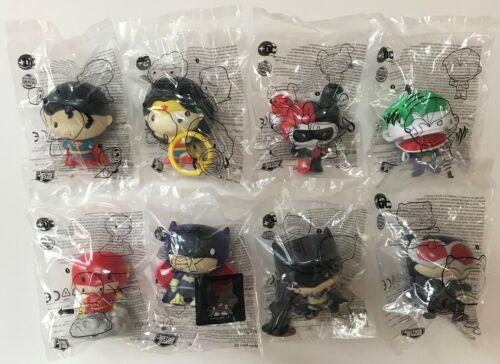 2021 Burger King DC Comics JUSTICE LEAGUE CHIBI Toys Complete Set Of 8 Free Ship