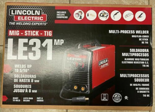 NEW Lincoln LE31MP Multiprocess Welder MIG / TIG / Stick Welding Machine K3461-1