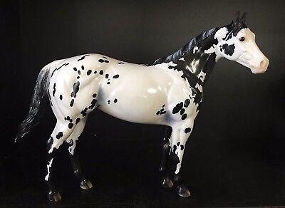 "PETER STONE MODEL HORSE ""WEB MISTRESS"" BLACK APPALOOSA ISH GLOSSY YAHOO GROUP SR"