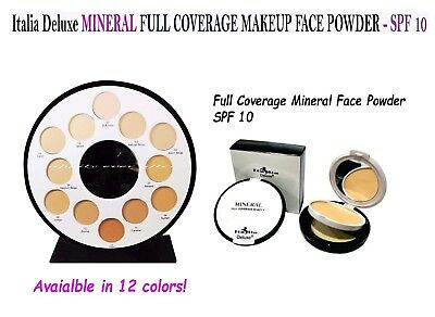 Italia Deluxe MINERAL Face Powder - SPF 10, FULL COVERAGE, Natural look  (Mineral Powder Spf)