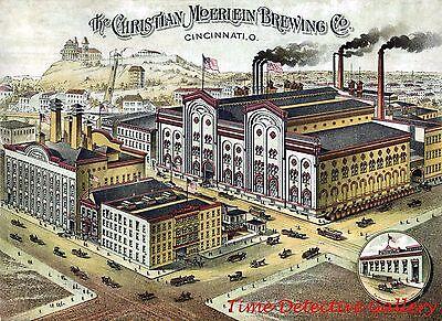 Christian Moerlein Brewing Company, Cincinnati, Ohio - Historic Lithograph Print