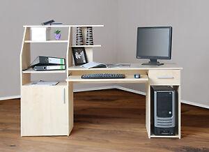 Schreibtisch ahorn ebay for Pc tisch ahorn