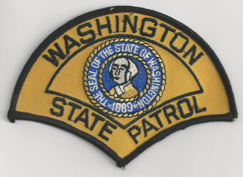 WASHINGTON STATE PATROL - SHOULDER PATCH - IRON OR SEW-ON PATCH
