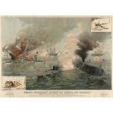 Civil War Prints: Monitor & Merrimac - First Ironclad Engagement: Fine Art Print