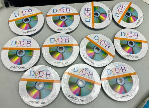 New x110 Pack Memorex Disk DVD-R 16x 4.7GB 120Min Free Shipping