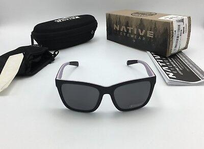 Native Eyewear Women's Braiden Sunglasses Black / Violet, POLARIZED Gray Lens